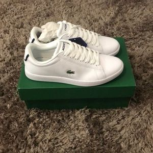 Lacoste leather white shoes size 8